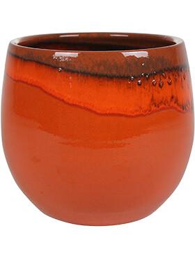charlotte pot orange diam 29cm h 26cm