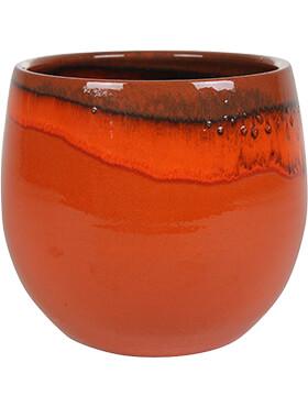 charlotte pot orange diam 33cm h 28cm