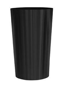 Stiel Conica, Met RVS plaat en koppelmoer M12 RAL 9011 mat, diam: 60cm, H: 95cm