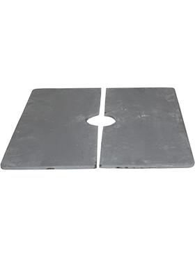 baq timeless largo inzetplaat 2 delen vierkant l 39cm h 1cm b 195cm