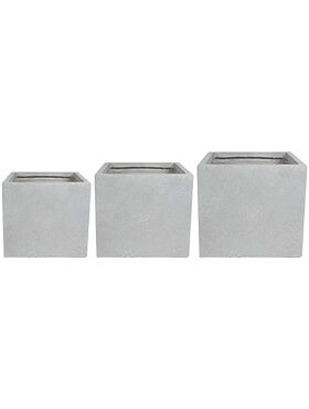 amfa pot grey set van 3 l 35cm h 32cm b 35cm