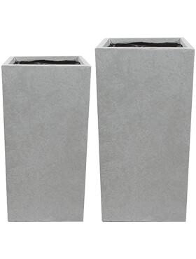 amfa vase grey set van 2 l 33cm h 68cm b 33cm