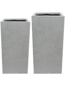 Amfa, Vase Grey (set van 2), L: 33cm, H: 68cm, B: 33cm
