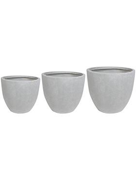 ace pot grey set van 3 diam 38cm h 33cm
