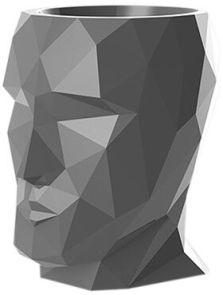 Adan Nano, Lacquered Anthracite, L: 17cm, H: 18cm, B: 13cm