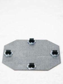 Wielplateaus (max. 45 kg. draagvermogen), Bokwiel 4 x 8 mm, diam: 19cm, H: 1,5cm
