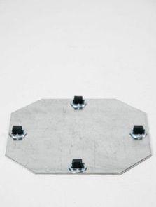 Wielplateaus (max. 45 kg. draagvermogen), Bokwiel 4 x 8 mm, diam: 24cm, H: 1,5cm