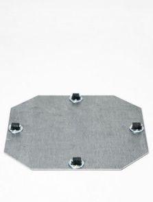 Wielplateaus (max. 45 kg. draagvermogen), Bokwiel 4 x 8 mm, diam: 29cm, H: 1,5cm