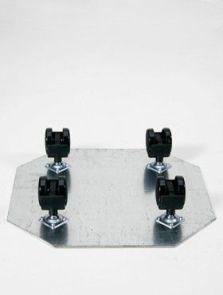 Wielplateaus, Zwenkwiel 4 x 35 mm (max. 150 kg. draagvermogen), diam: 39cm, H: 5cm