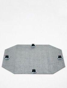 Wielplateaus (max. 45 kg. draagvermogen), Bokwiel 4 x 8 mm, diam: 39cm, H: 1,5cm