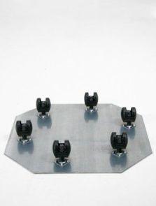 Wielplateaus, Zwenkwiel 6 x 35 mm (max. 200 kg. draagvermogen), diam: 52cm, H: 5cm