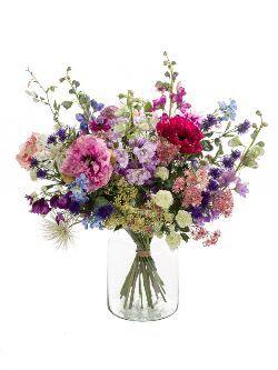 Zijde bloemen {tekst2}